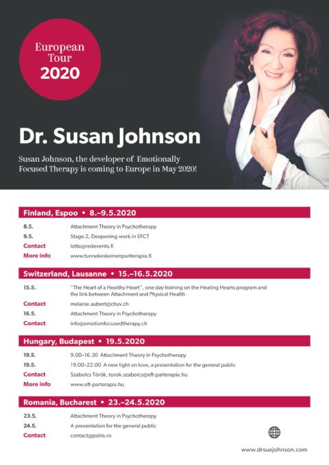Η Susan Johnson συναντά τους ειδικούς του EFT στην Ευρώπη